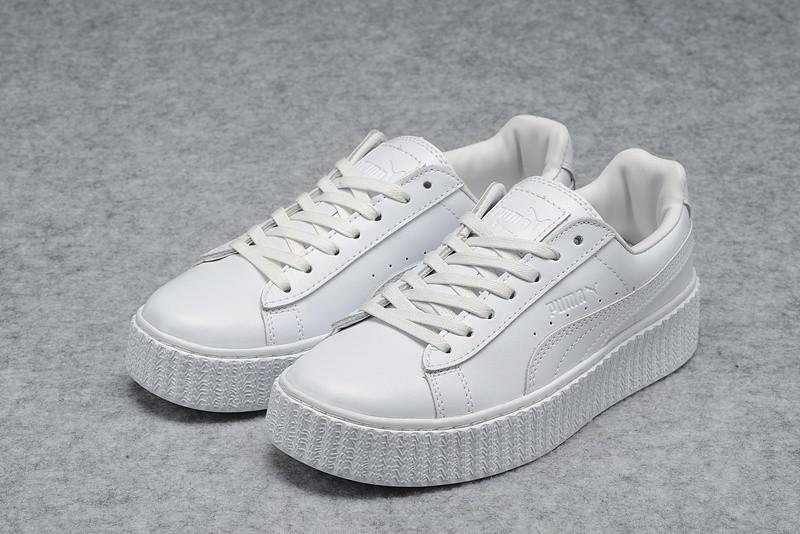 Comprar Puma by Rihanna Leather Creepers Hombre Mujer Zapatillas All Blancas Baratas