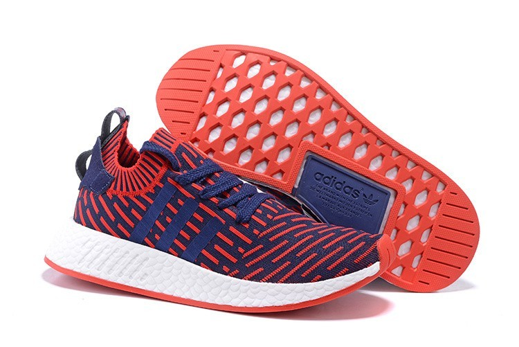 Nueva Hombre Adidas NMD R2 Zapatillas de Running Varsity Rojas Marino España Online