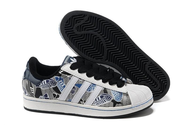 Nueva Hombre Mujer Adidas Originals Superstar 2 Print Blancas Grises Negras 031391 Casual Zapatillas Online Baratas