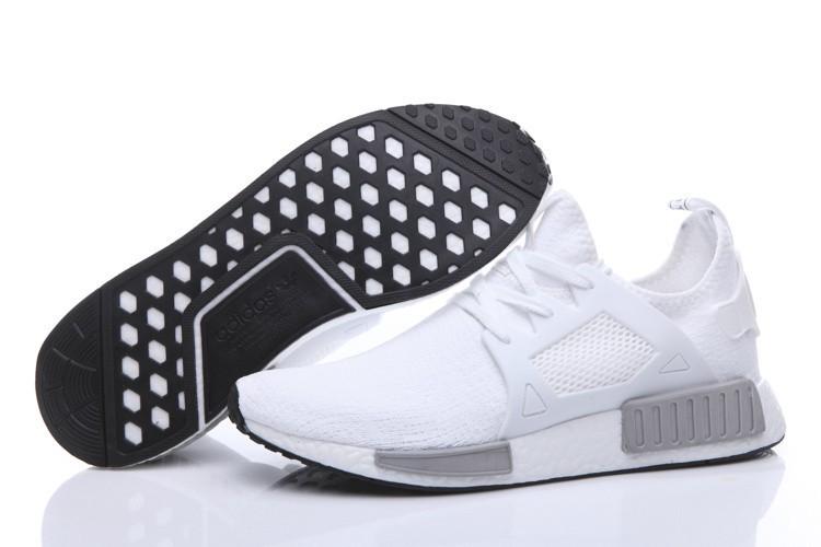 Comprar Hombre Zapatillas - Adidas Originals NMD High Top Blancas Grises Baratas