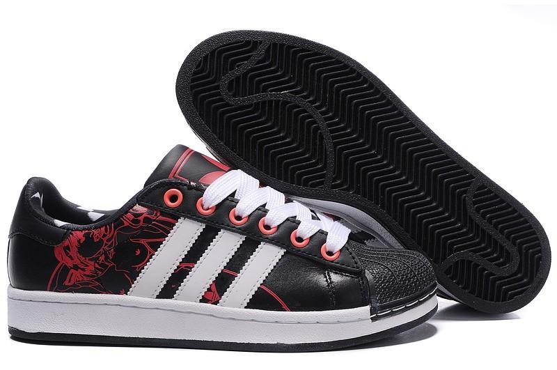 Venta Hombre Mujer Adidas Originals Superstar 2 Print Casual Zapatillas Negras Rojas G43777 Rebajas Baratas