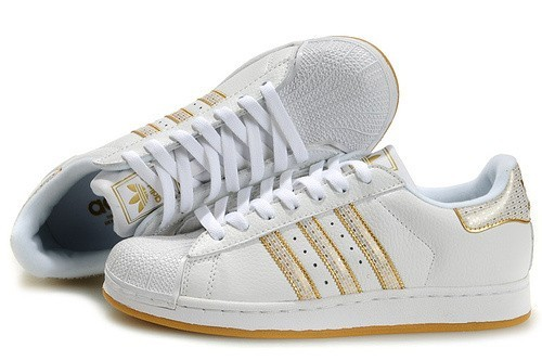 """Nueva Mujer Blancas Doradas Adidas Originals Superstar 2 """"Bling Pack"""" Casual Zapatillas Baratos"""