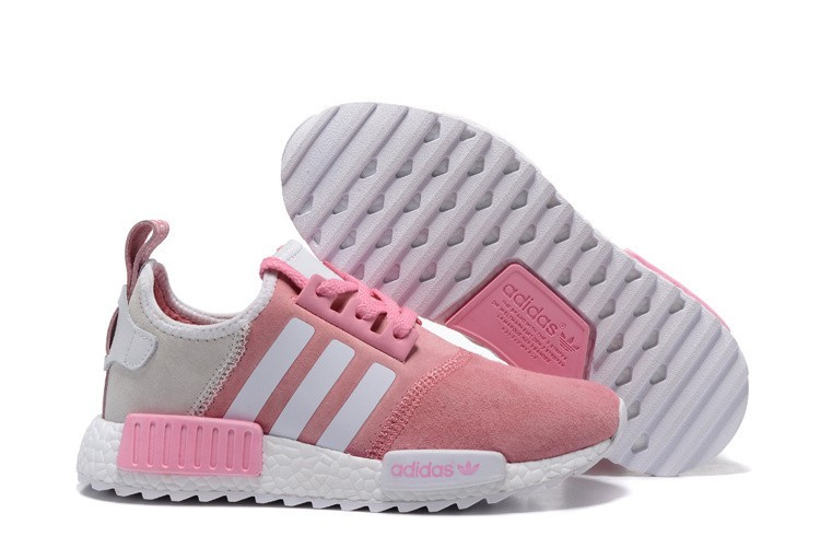 Oferta Mujer Adidas NMD XR4 Running Suede Zapatillas Rosa Blancas Rebajas Online