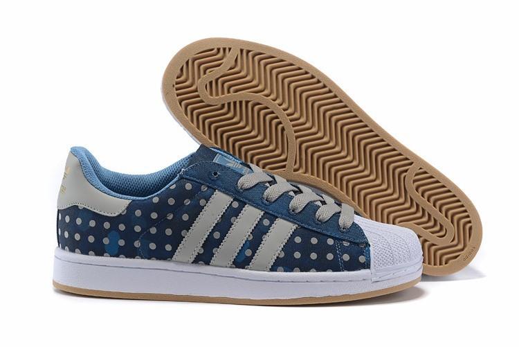 Compra Hombre Mujer Adidas Originals Superstar II Polka Dot Casual Zapatillas Azul Grises M20728 España Rebajas