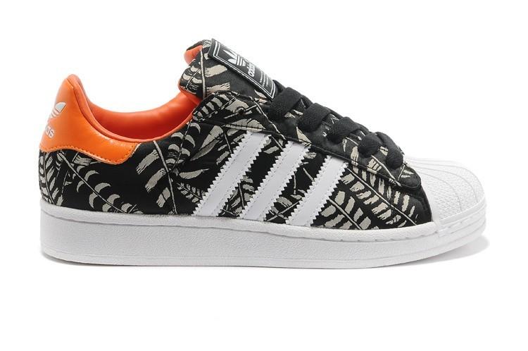 Venta Hombre Mujer Negras Naranja G97580 Adidas Originals Superstar 2 Pattern Casual Zapatillas Rebajas Online