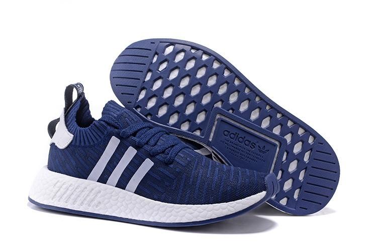 Venta Hombre Adidas NMD R2 Zapatillas de Running Marino Blancas España Rebajas