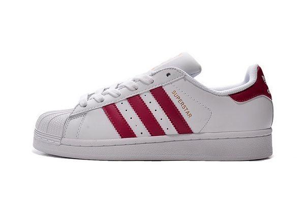 Nueva Hombre Mujer Zapatillas: Adidas Originals Superstar Foundation Blancas Rosa B23644 Baratas