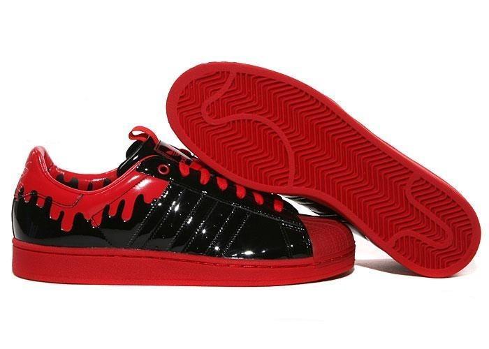 Compra Mujer Adidas Originals SS Enml 1 Superstar Enamel Drip Casual Zapatillas Negras Rojas G28357 Rebajas Online