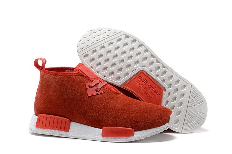 Comprar Hombre Adidas NMD Chukka Suede Zapatillas de Running Lush Rojas Core Blancas S79147 Baratos