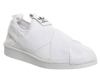 new arrival 0dc27 6ecdc Venta Hombre Mujer Adidas Originals Superstar Slip On Trainer Blancas  España Baratas