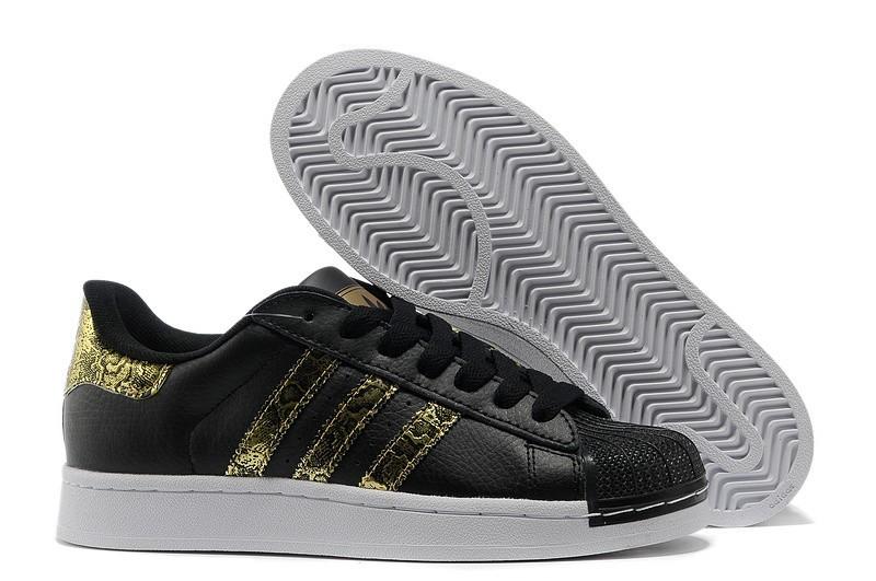 Comprar Adidas Originals Superstar 2 Bling Casual Zapatillas Hombre Mujer Negras Doradas G62844 Online Baratas