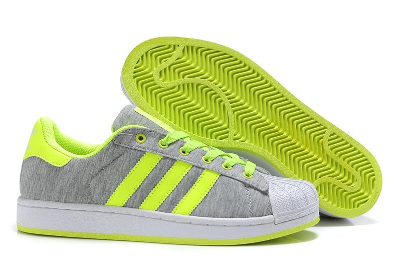 Oferta Hombre Mujer Adidas Originals Superstar 2 Casual Zapatillas Grises Lime G17253 Outlet España