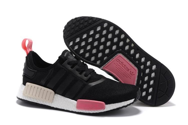 Nueva Mujer Zapatillas - Adidas Originals NMD High Top Negras Peach Rosa S75234 Outlet España