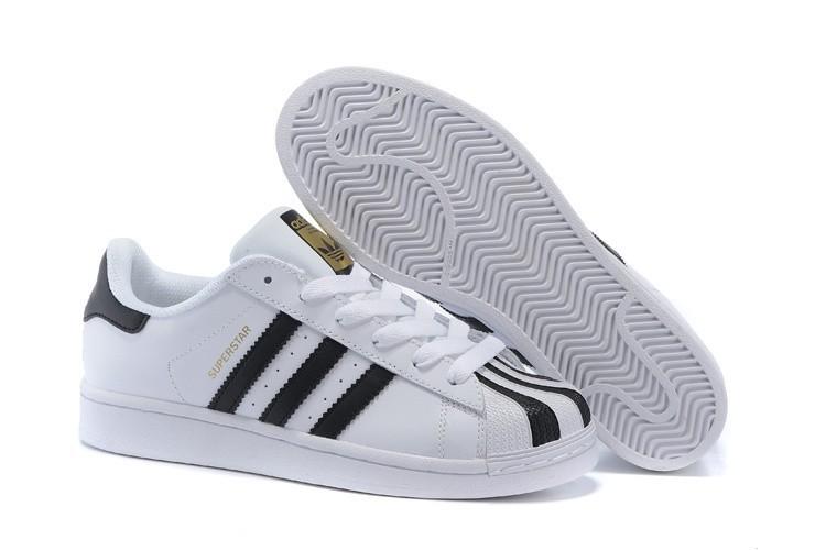 Nueva 2016 Hombre Mujer Adidas Originals Superstar Blancas Negras C17068  Zapatillas España Rebajas