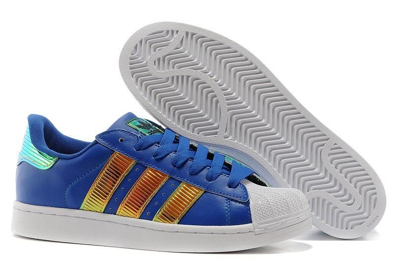 Compra Hombre Mujer Marino Doradas D65614 Adidas Originals Classic Superstar SS Bling Casual Zapatillas Rebajas Online