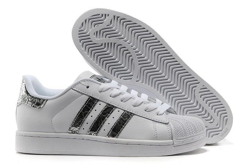 Nueva Hombre Mujer Adidas Originals Superstar 2 Bling Blancas Plata G62847 Casual Zapatillas Outlet España