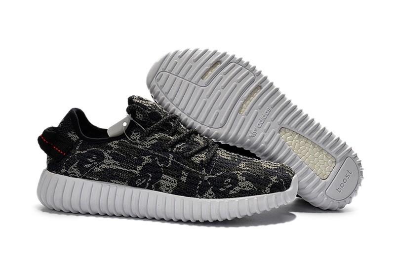 Nueva Adidas Yeezy Boost 350 Hombre Zapatillas Oscuro Grises Camo AQ2668 Baratos