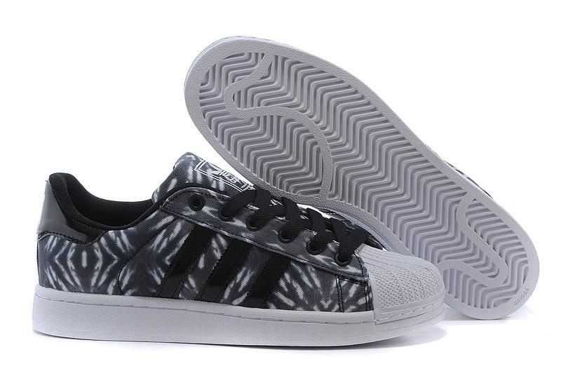 Nueva Hombre Mujer Adidas Originals Superstar II Casual Zapatillas Negras Blancas C75313 Outlet España