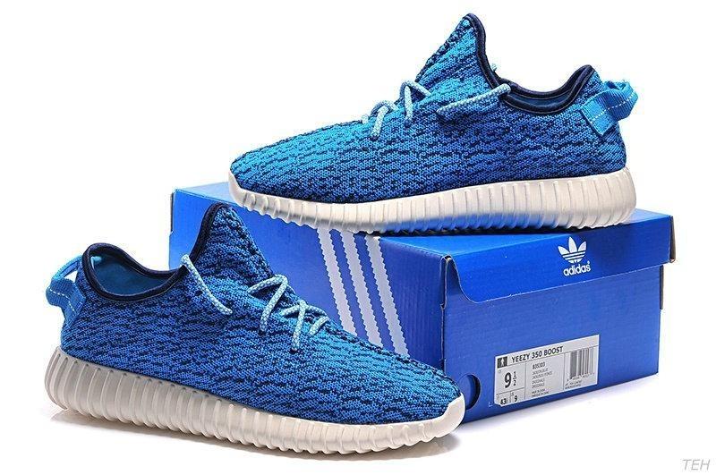 new style 45792 9dcdd Nueva Hombre Mujer Azul B35303 Adidas Yeezy Boost 350 Zapatillas Rebajas  Baratas