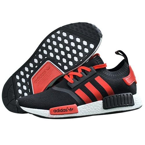 Nueva Hombre Mujer Adidas Originals NMD High Top Sneaker Negras Rojas Baratas