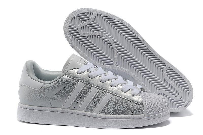"""Venta Adidas Originals Superstar 2 """"Phoenix Grain"""" Casual Zapatillas Hombre Mujer Metallic Plata Grises-Blancas G63094 Rebajas"""