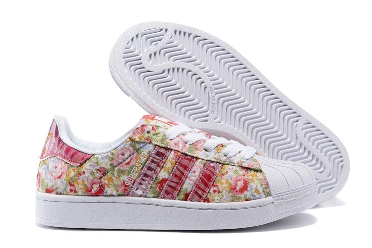 finest selection 8ab2e 20e17 Venta Mujer Adidas Originals Superstar 2 Print Rosa Blancas Casual  Zapatillas Rebajas