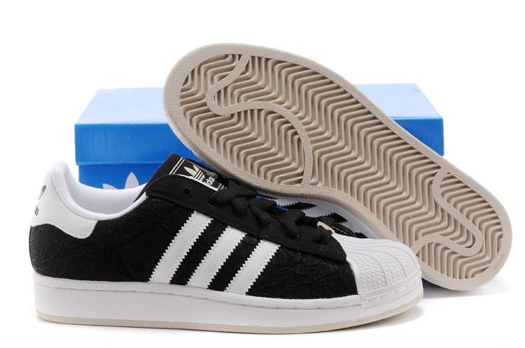 Compra Hombre Mujer Adidas Originals Superstar 2 Lace Casual Zapatillas Negras D65471 Rebajas