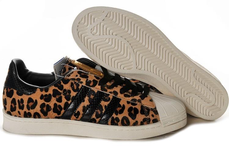 Compra Hombre Mujer Adidas Originals Superstar 2 Print Casual Zapatillas Leopard Marrones G62131 Online Baratas