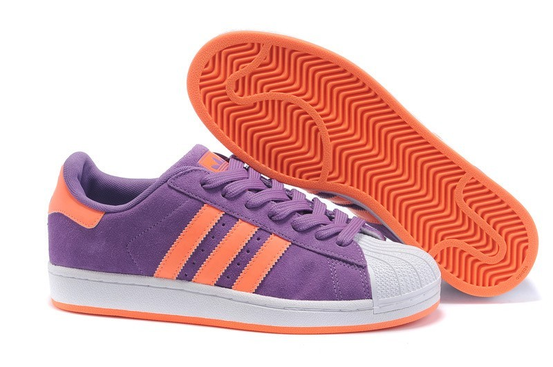 Oferta Hombre Mujer Adidas Originals Superstar Casual Zapatillas Morado Naranja G43722 Baratas