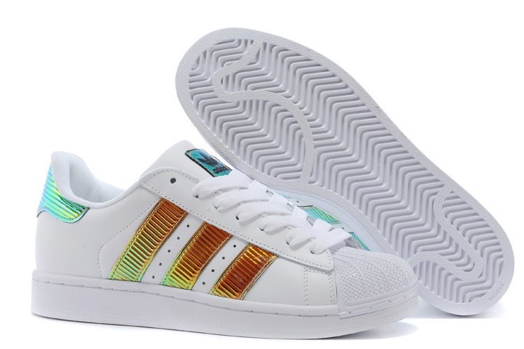 Comprar Hombre Mujer Blancas Marrones Royal D65615 Adidas Originals Classic Superstar SS Bling Casual Zapatillas Online Baratas