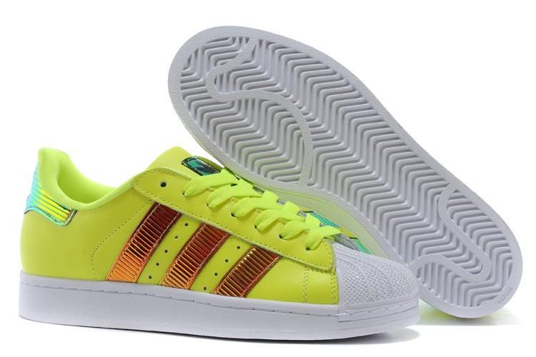 Nueva Hombre Mujer Adidas Originals Classic Superstar SS Bling Amarillo Running Blancas D65617 Casual Zapatillas España Online