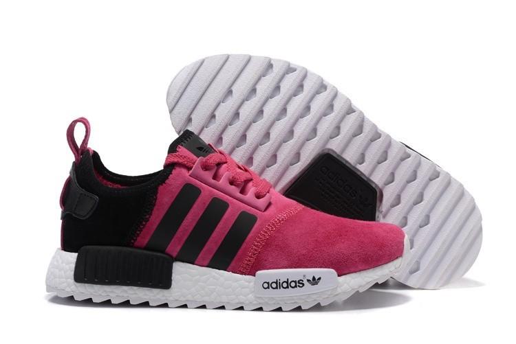 Compra Mujer Adidas NMD XR4 Running Suede Zapatillas Peach Negras España Rebajas