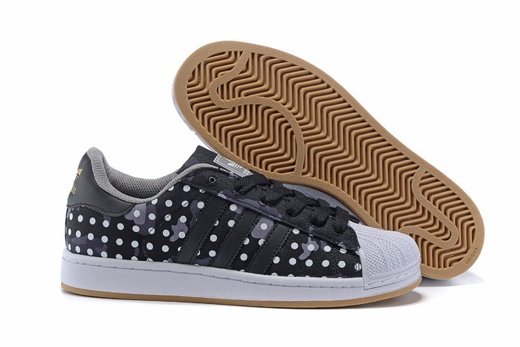 Comprar Adidas Originals Superstar II Camo Dot Print Casual Zapatillas Hombre Mujer Negras Blancas M20727 Baratas
