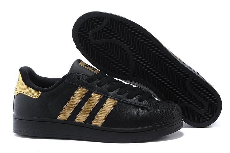 competitive price 9ce8d a63fa Oferta Hombre Mujer Adidas Originals Superstar II Casual Zapatillas Negras  Metallic Doradas V24625 Baratas