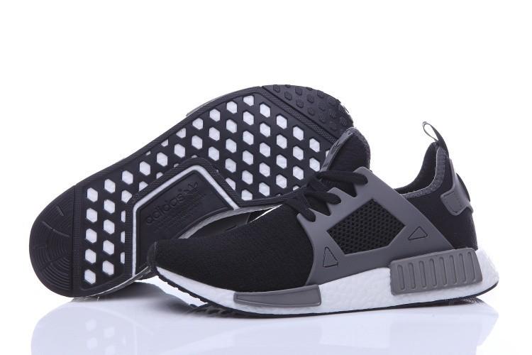 Oferta Hombre Zapatillas - Adidas Originals NMD High Top Negras Grises Baratos