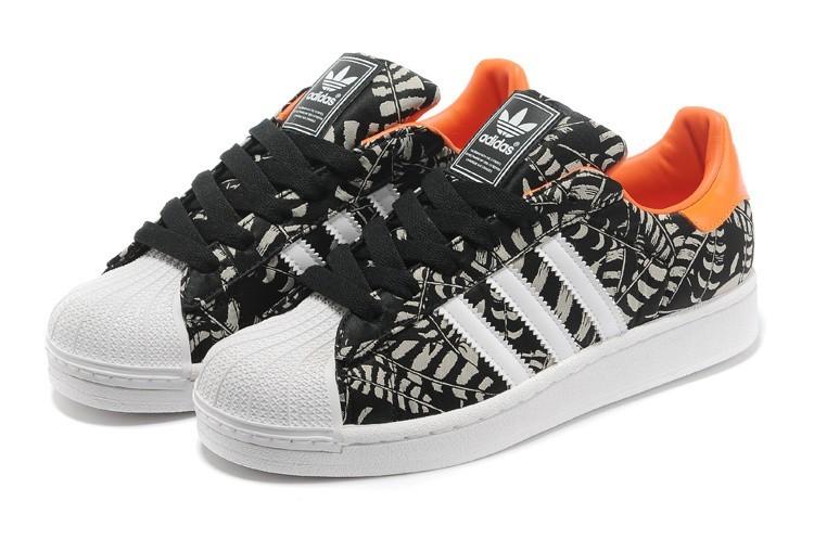 1735ee007db Venta Hombre Mujer Negras Naranja G97580 Adidas Originals Superstar 2  Pattern Casual Zapatillas Rebajas Online