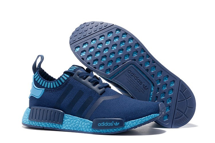 Venta Hombre Zapatillas - Adidas Originals NMD High Top Marino Claro Azul España Rebajas