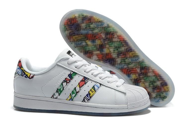 Venta Adidas Originals Superstar Tongue Label 2016 Hombre Mujer Zapatillas Blancas Blancas Negras S79390 Rebajas Online