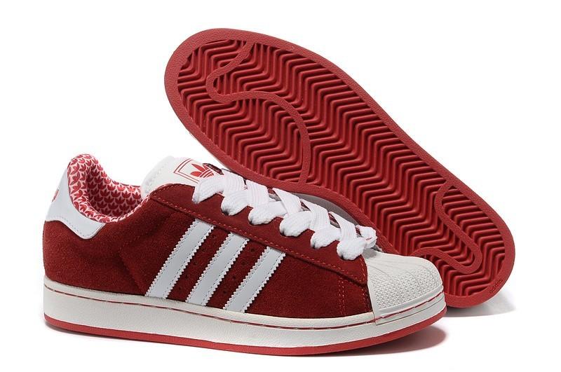 Venta Adidas Originals Superstar 2 Hombre Mujer Casual Zapatillas Rojas Blancas G02010 España Online