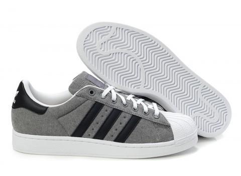 Compra Adidas Originals Superstar 2 Grises Negras Hombre Mujer Casual Zapatillas Baratas