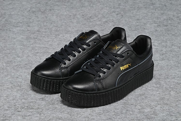 Nueva Hombre Mujer Puma by Rihanna Leather Creepers Zapatillas All Negras  Outlet España