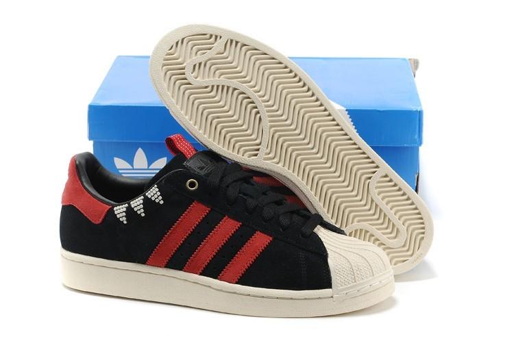 Compra Hombre Mujer Negras Rojas G28351 Adidas Originals SS STD LUX Superstar Casual Zapatillas Outlet España