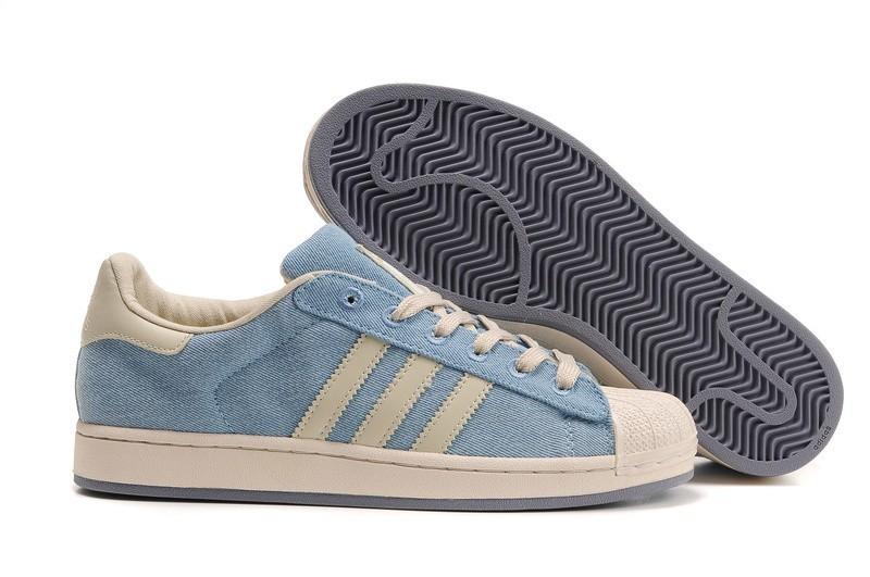 Comprar Mujer Adidas Originals Superstar Casual Zapatillas Azul Blancas 909244 Online Baratas