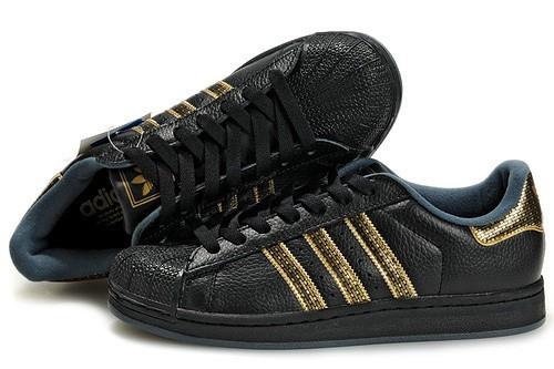 zapatillas adidas mujer negras y doradas