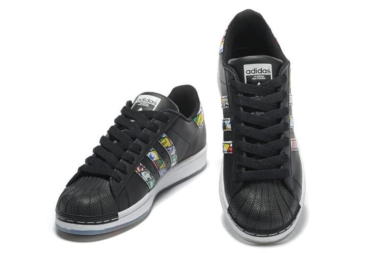 0c63057b06c Nueva 2016 Hombre Mujer Adidas Originals Superstar Tongue Label Zapatillas  Negras S79391 España Rebajas