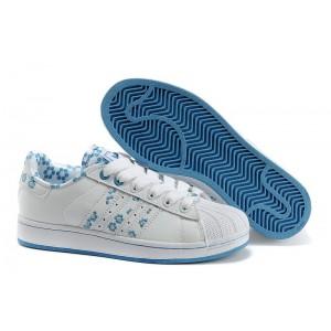 Oferta Mujer Blancas Azul Adidas Originals Superstar 2 Casual Zapatillas España Rebajas
