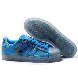 Nueva Hombre Mujer Adidas Originals Superstar CLR Azul 027784 Zapatillas España Baratas