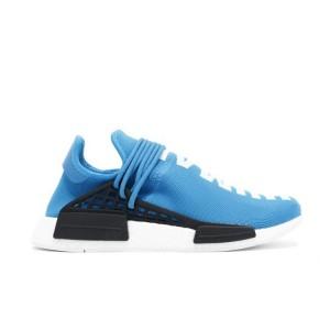 "Venta Pharrell x Adidas NMD ""Human Race"" Hombre Zapatillas de Running Sharp Azul Negras Blancas BB0618 Online Baratas"