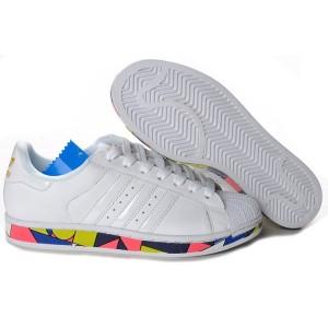Comprar Hombre Mujer Adidas Originals Superstar 2 Clover Picasso Lovers Casual Zapatillas Blancas G50964 España Online