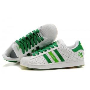 Nueva Adidas Originals Superstar Adicolor Casual Zapatillas Hombre Mujer Blancas Verdes Rebajas Baratas